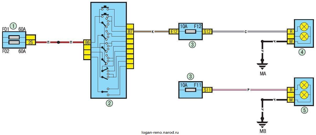 Электрическая схема дальнего