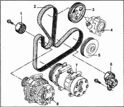 Детали привода генератора